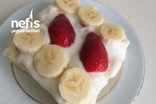 Meyveli Çok Hafif Pasta Tarifi