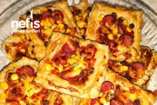Milföy Hamurundan Küçük Pizzalar Tarifi