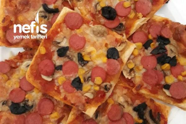 Pizza (Milföy Hamurundan) Tarifi