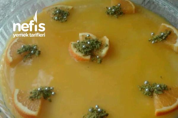 Portakal Soslu İrmikli Muhallebi Tarifi