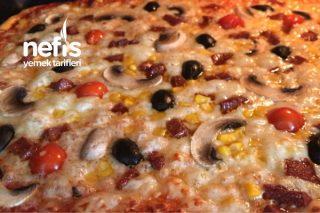 Yumurta Süt Kullanmadan Yumuşacık Pizza Hamuru Videolu Tarifi