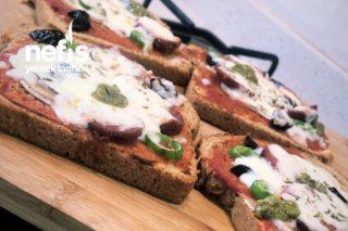Sağlıklı Şipşak Pizza Tarifi