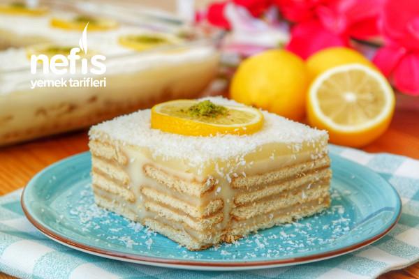 Limonlu Bisküvili Pasta (videolu) Tarifi