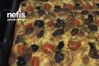 Ekşi Mayalı Focaccia Ekmeği (İtalyan Ekmeği) Tarifi