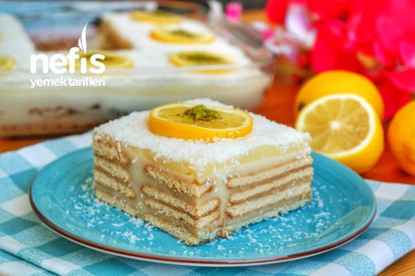 Limonlu Bisküvili Pasta (videolu)