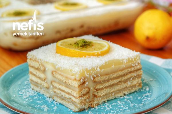 Limonlu Bisküvili Pasta