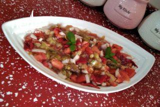 Köz Biberli Patlıcanlı Salata Tarifi