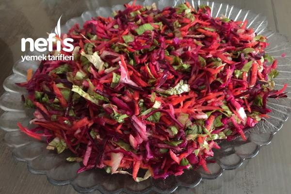 Mor Renkli Kış Salatası Tarifi