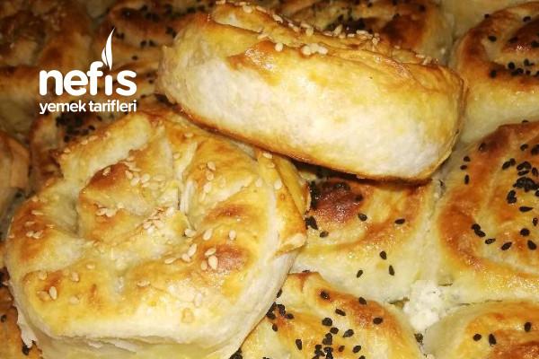 Peynirli ve Patatesli Gül Böreklerim Tarifi