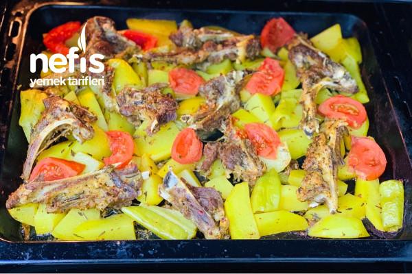 Fırında Patatesli Sebzeli Pirzola Tarifi