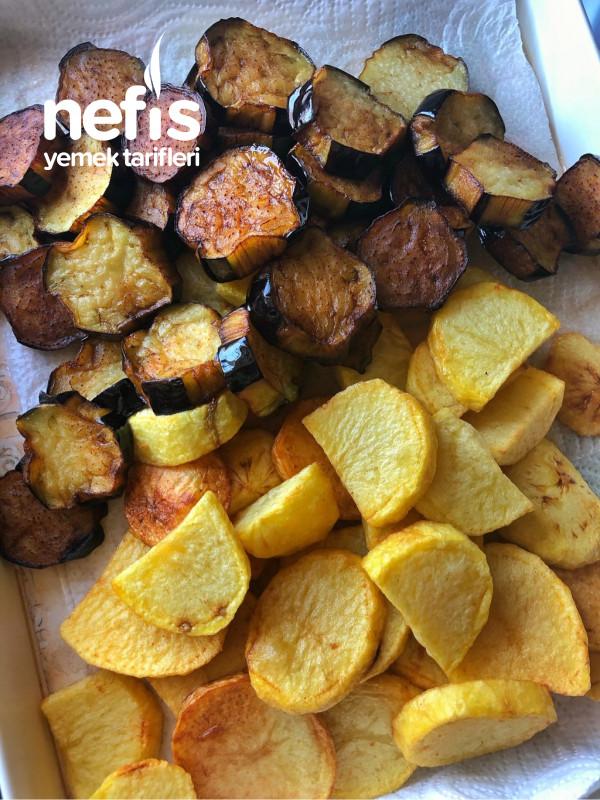 Köfte patlıcan patates buluşması Pür Lezzet