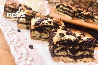 Brownie Dolgulu Kesme Kurabiye Tarifi