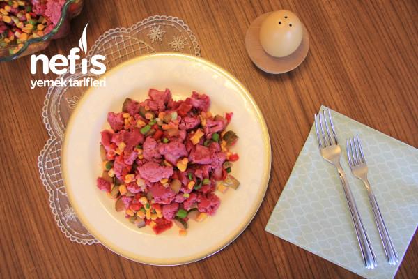 Renkli Karnabahar Salatası