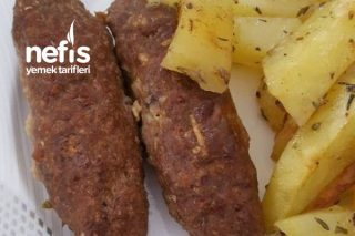 Fırında Çöp Şişte Köfte Ve Patates Tarifi