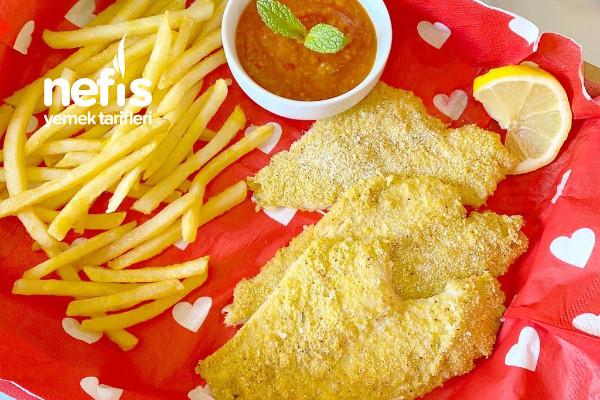 Fırında Fish Chips (Balık Ve Patates)