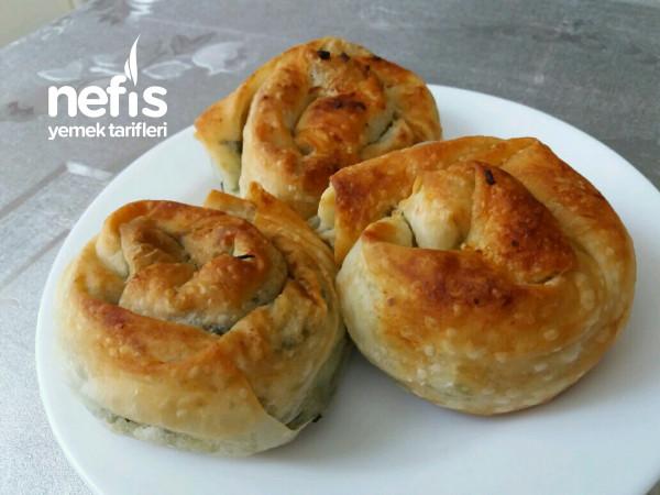 Ispanaklı Gül Böreği (Nefis Lezzet)