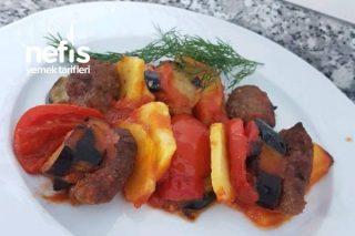 Fırında Patlıcanlı Köfteli Enfes Tarif Tarifi