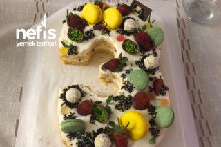 Rakamlı Doğum Günü Pastası (Butik Pasta) Tarifi