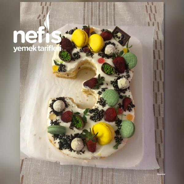 Rakamlı Doğum Günü Pastası (Butik Pasta)