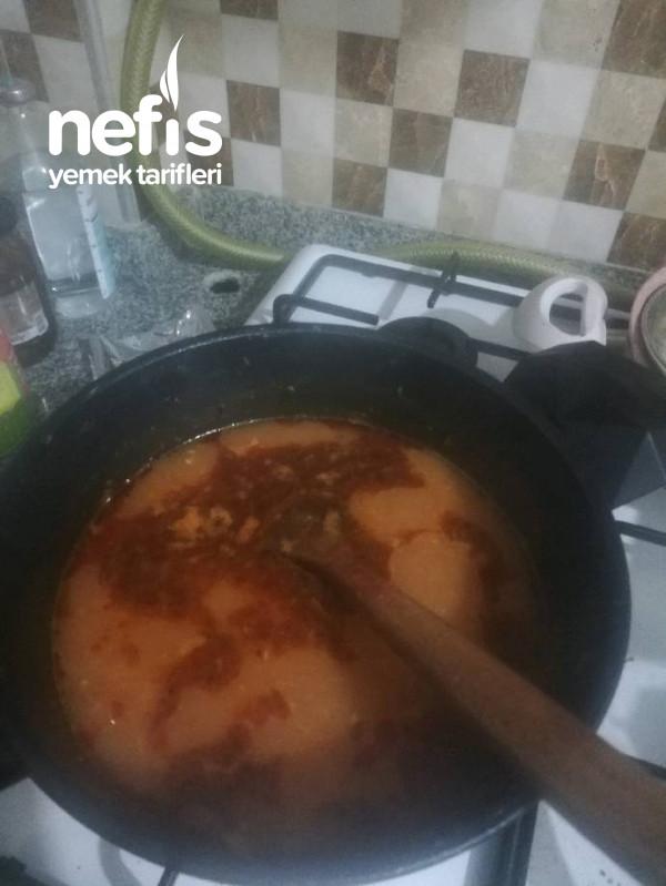 Yalancı Kelle Paça Çorbası (Tavuklu)