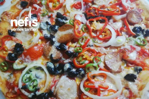 Fesleğen Soslu Nefis Pizza Tarifi