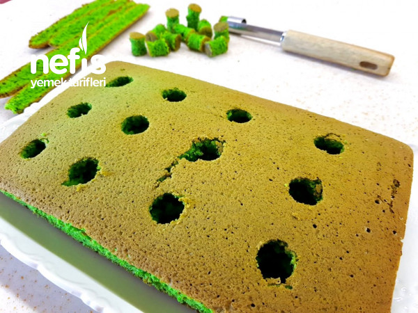Ispanaklı Poke Kek