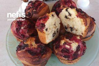 Vişneli Damla Çikolatalı Pofidik Muffin Tarifi