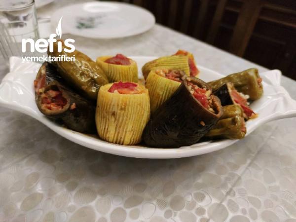 Biber-Patlıcan-Kabak Dolması