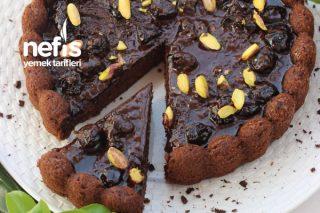 Vişne Reçelli Çikolatalı Kek (Toz Şekersiz) Tarifi