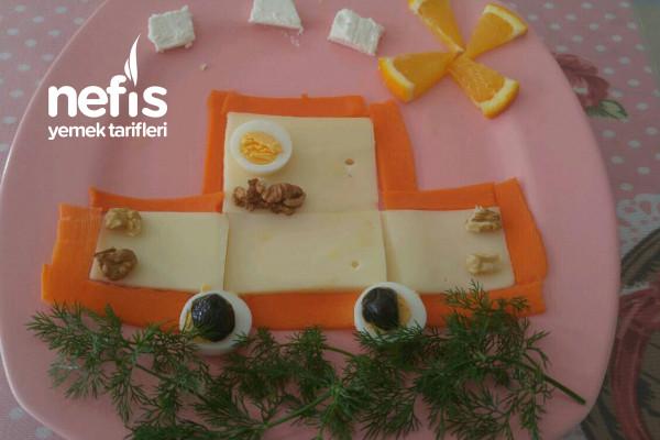 Kızımın Kahvaltı Tabağı Tarifi