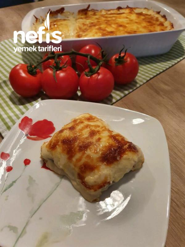 Firinda Beşamel Soslu Patlıcan Oturtma