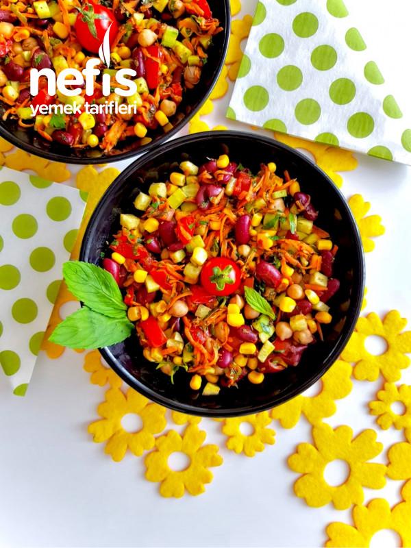 Mediterranean Bean Salad (Akdeniz Salatası)