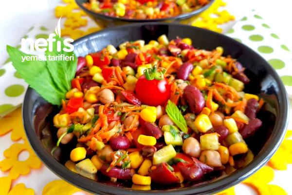 Mediterranean Bean Salad (Akdeniz Salatası) Tarifi