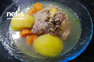 Enfes Sarımsaklı Kuzu Gerdan Çorbası/Yemeği Tarifi