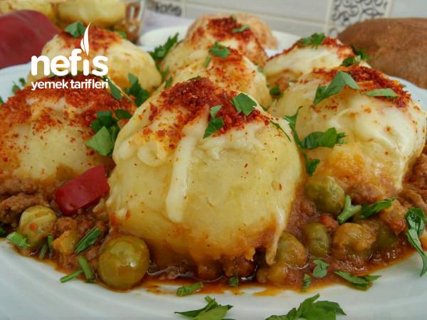 Kıymalı Bezelyeli Porsiyonluk Patates Püresi