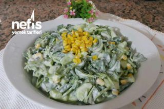 Yoğurtlu Semiz Otu Salatası (Serin Alternatif) Tarifi