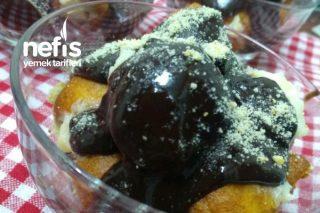 Krema Dolgulu Çikolata Soslu Lokma Tatlısı Tarifi