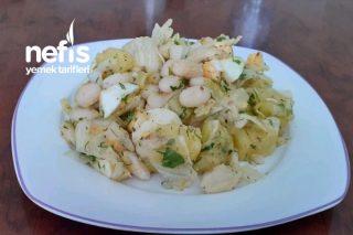 Kuru Fasulyeli Patatesli Salata Tarifi