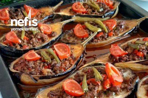 Kıymalı Bostan Patlıcan Kebabı (Videolu) Tarifi