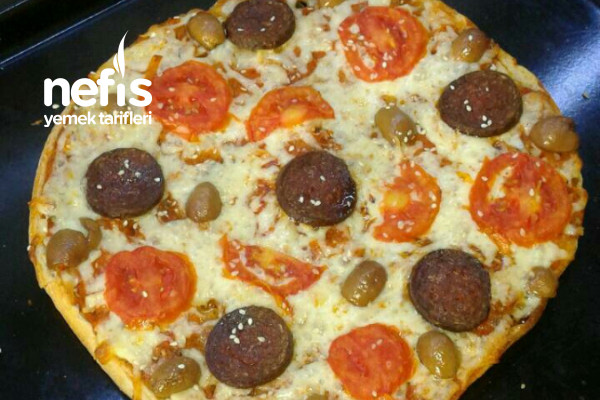 Ramazan Pidesinden Pratik Pizza (Evdeki Malzemelerle) Tarifi