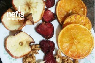 Sağlıklı Şekersiz Meyve Cipsleri (Pratik Lezzetli Diyet Ve Fit) Tarifi
