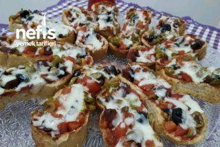 Çıtır Çıtır Bayat Ekmek Pizzası Tarifi