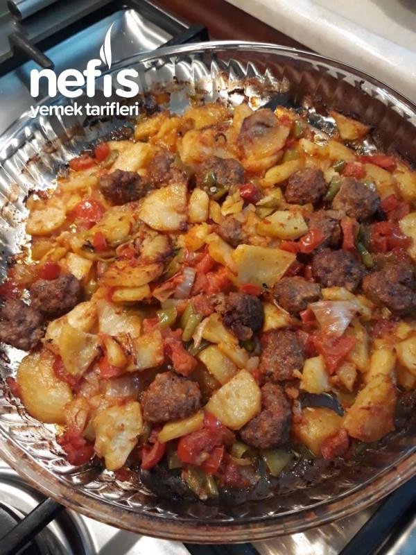 Borcamda Köfte Patates (Önceden Kızartılmış Az Pişen)