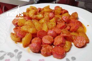 Salçalı Patatesli Sosis (Sahur İçin Enfes Lezzet) Tarifi
