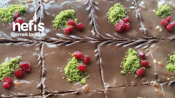 Çikolata Ganajlı Bisküvi Tatlısı