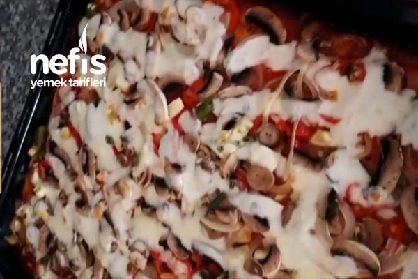 Karışık Sebzeli Pizza Tarifi