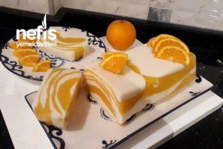 Portakallı Muhallebili Tatlı (Görüntü Ve Lezzet Şahane) Tarifi