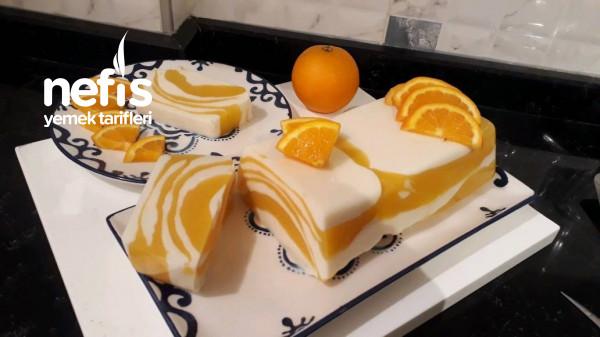 Portakallı Muhallebili Tatlı(görüntü Ve Lezzet Şahane)