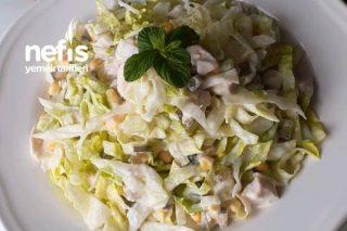 Tavuklu Göbek Marul Salatası Tarifi
