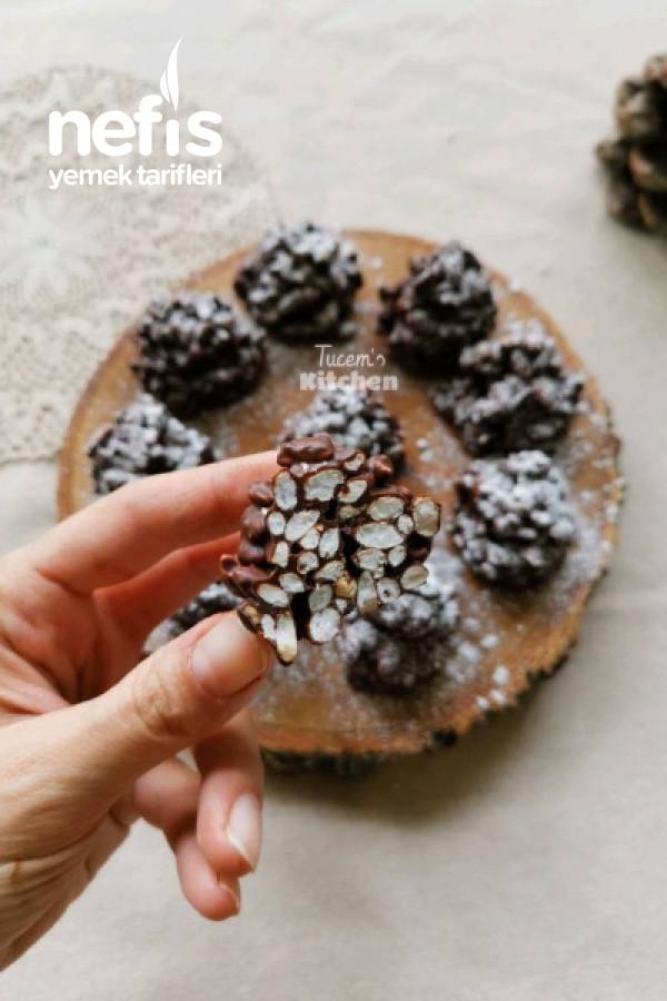 Çikolatalı Kozalak (Sadece 2 Malzemeyle 5dk da Hazır)